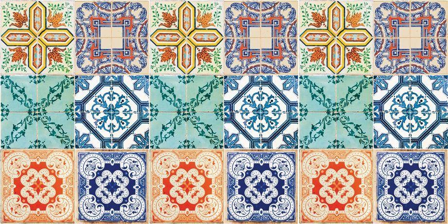 Azulejo Adesivo Azulejo Hidráulico 15 x 15
