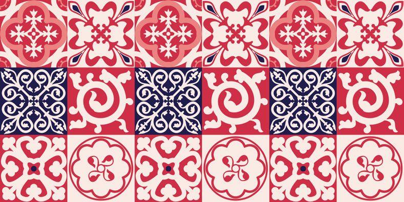 Azulejo Adesivo Casablanca Vermalho 15 x 15