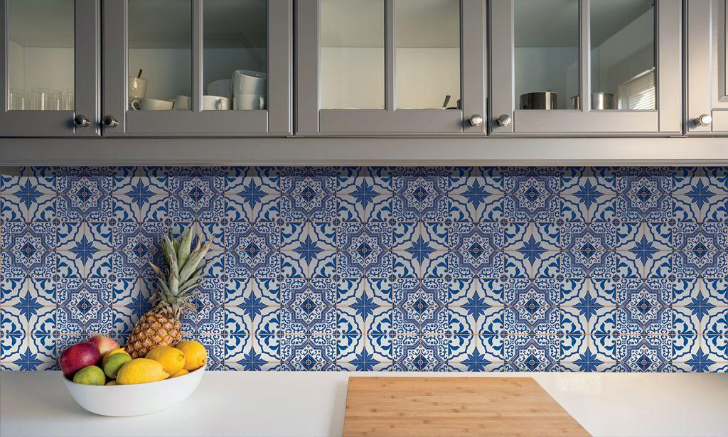 Azulejo Adesivo Porto Azul 15 x 15