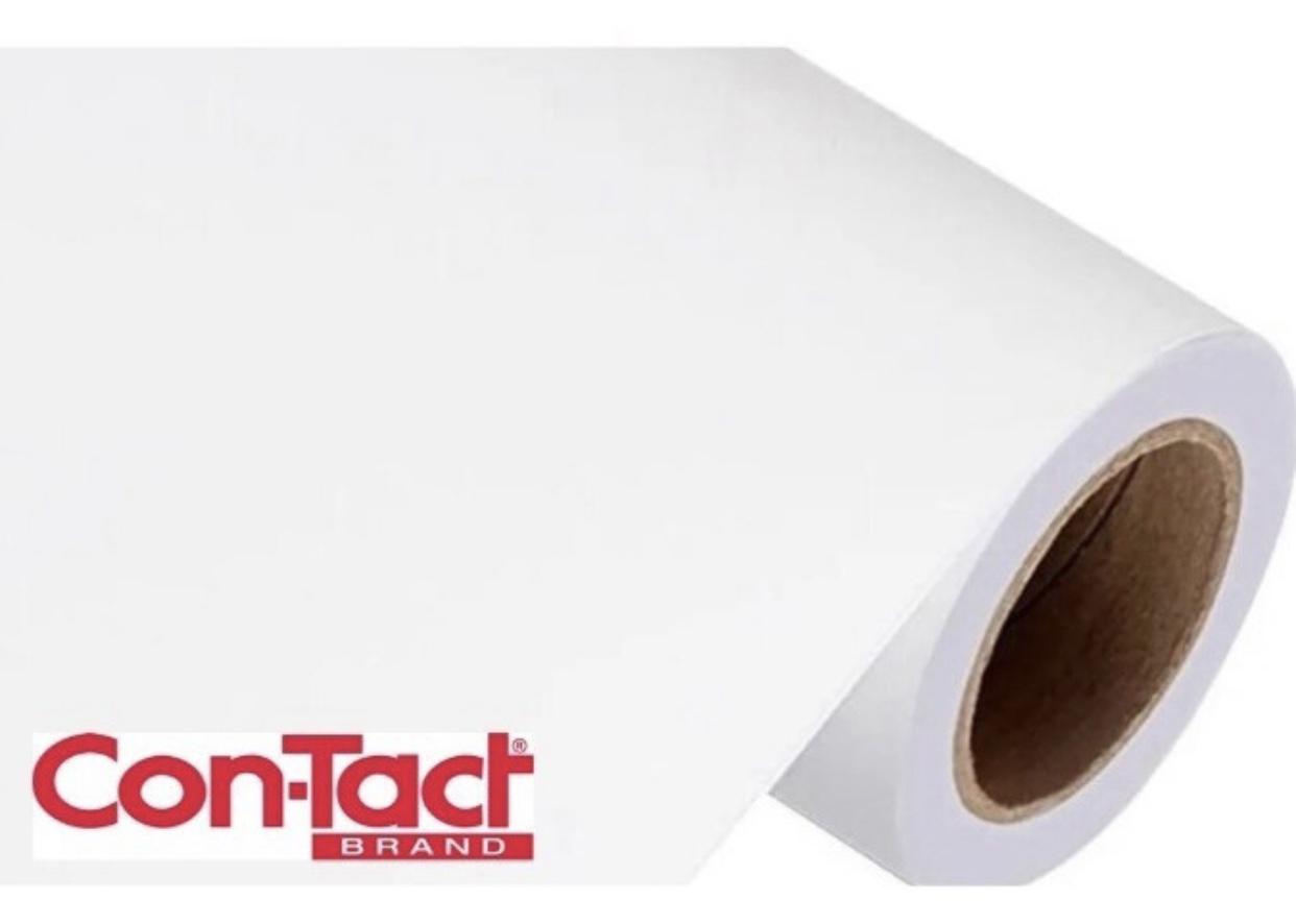 Papel Contact Adesivo Branco Fosco 45cm x 02m