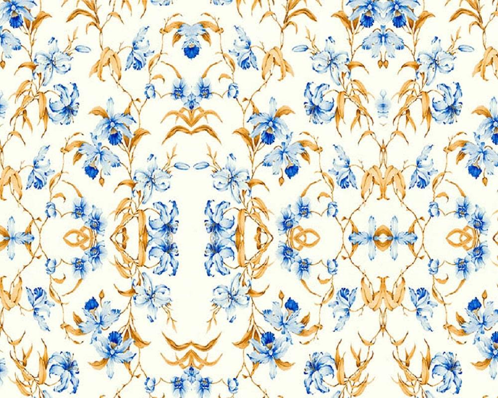 Papel Contact Adesivo Floral Lírio 10m