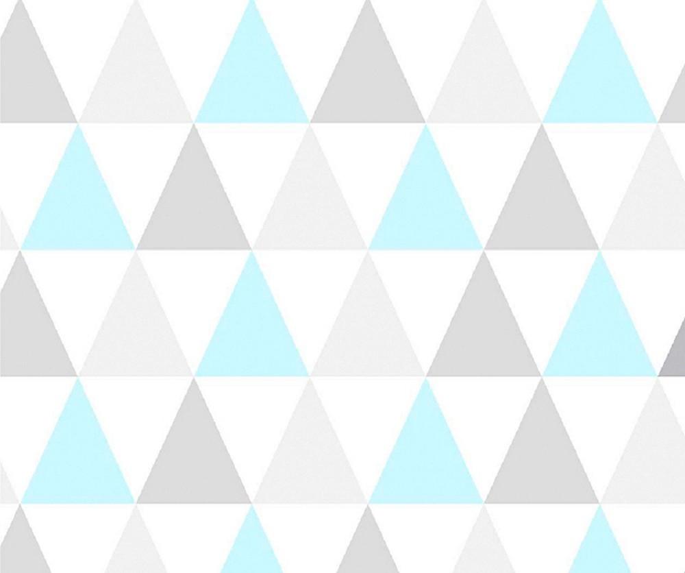 Papel Contact Adesivo Geométrico Triângulos Azul 10m