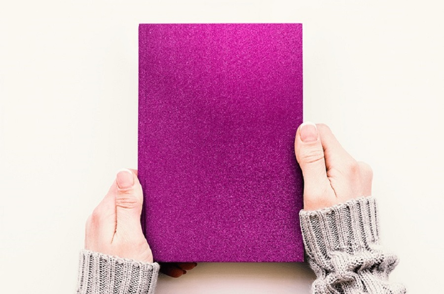 Papel Contact Adesivo Glitter Pink 10m