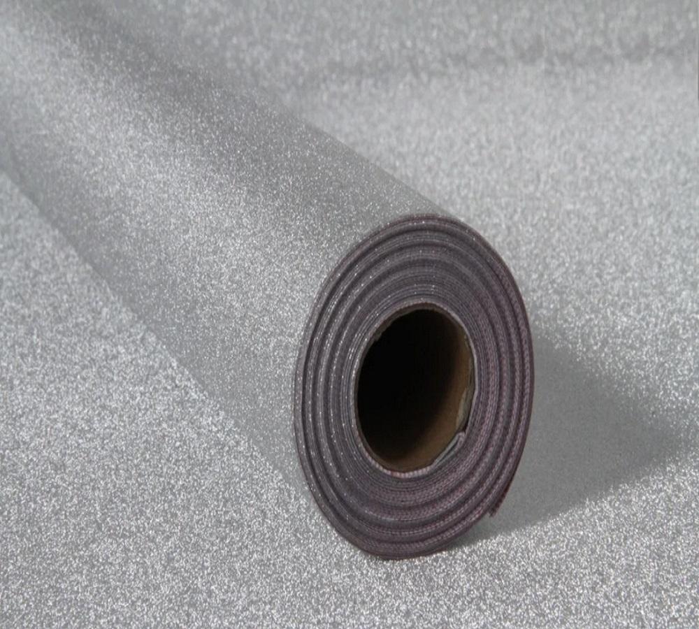 Papel Contact Adesivo Glitter Prata 10m