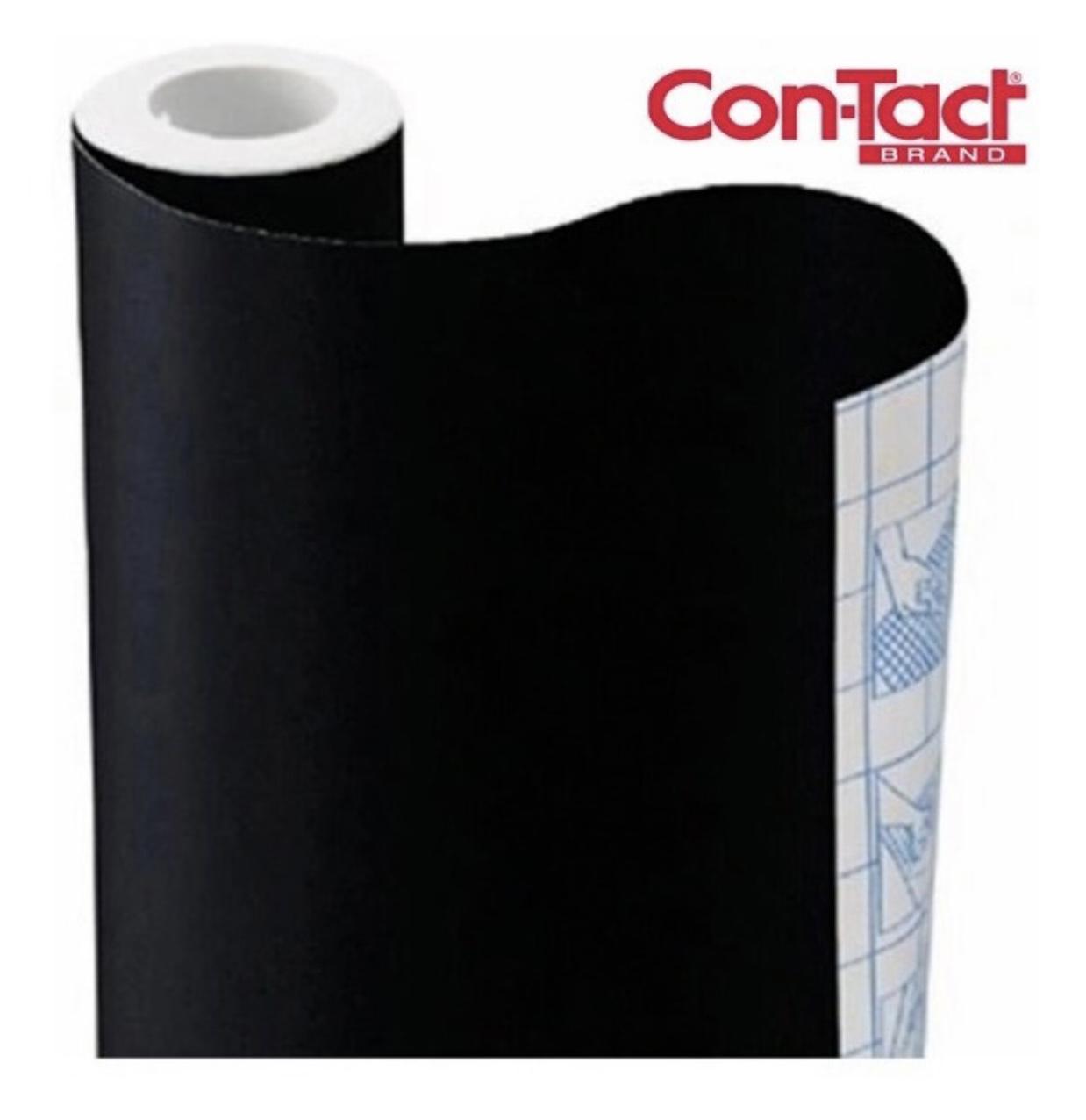 Papel Contact Adesivo Preto Fosco 45cm x 02m