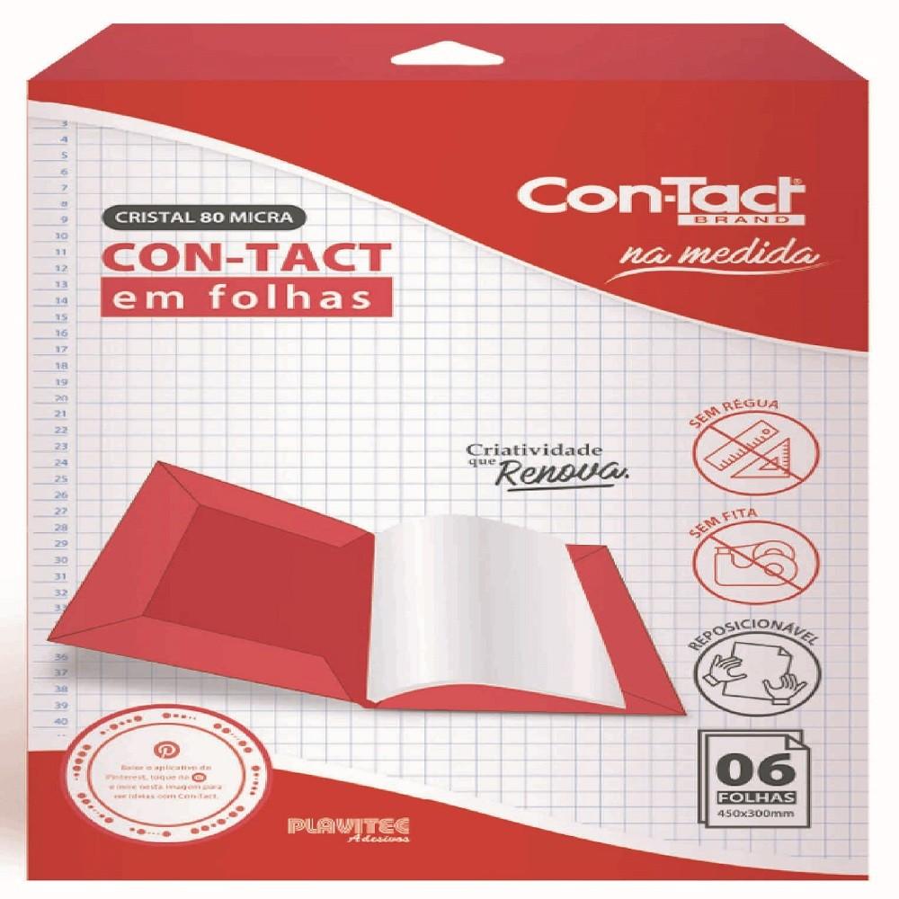 Papel Contact Adesivo Transparente Em Folhas - 6 folhas 45 x 30