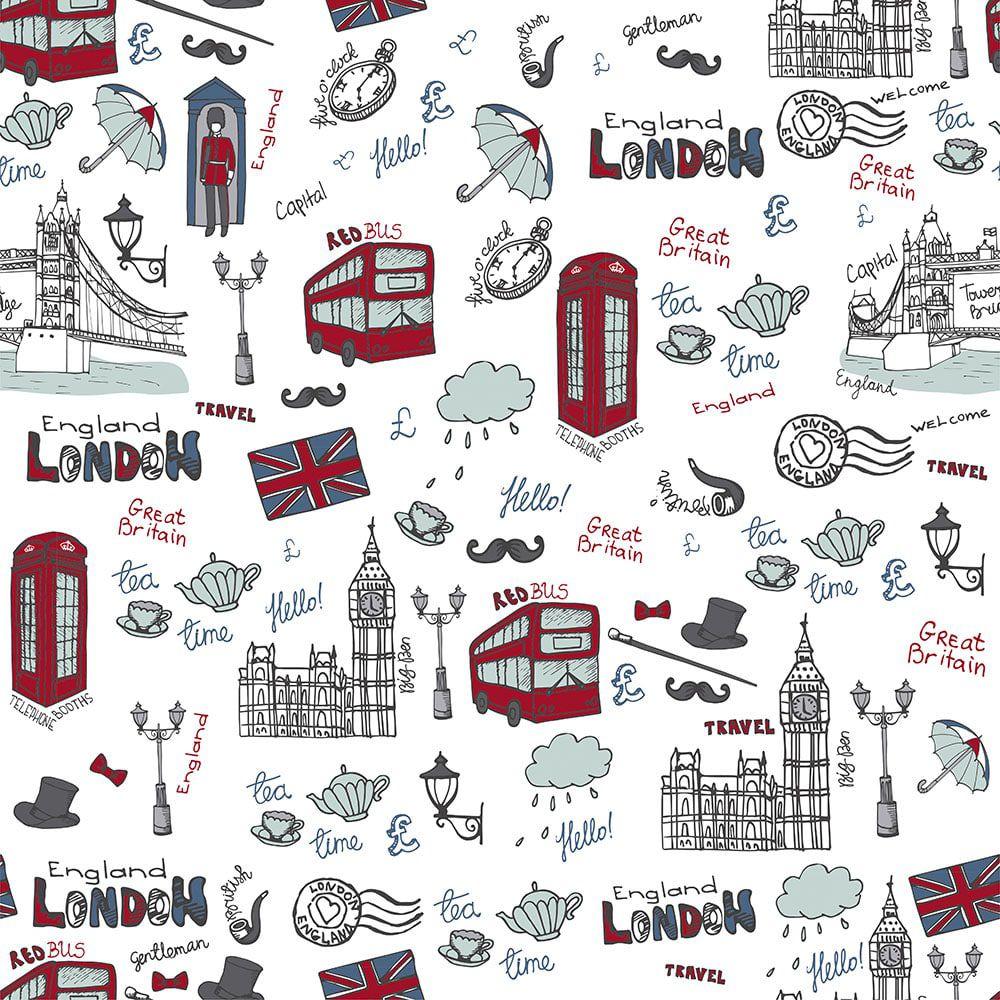 Papel de Parede Adesivo Londres
