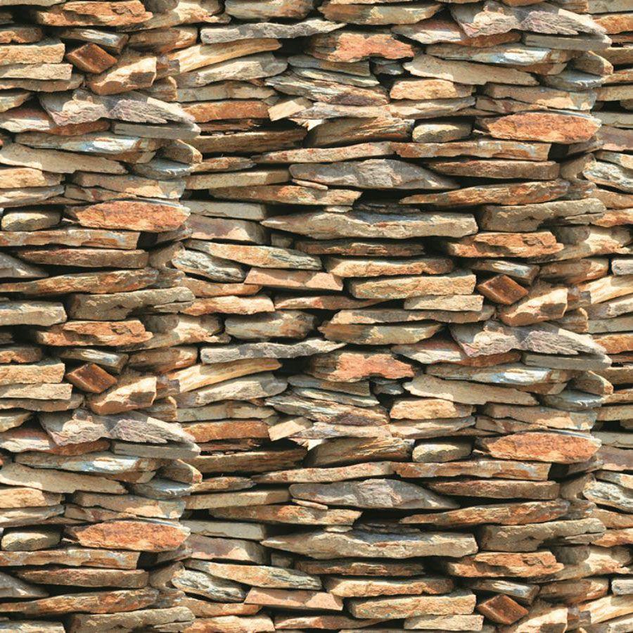 Papel de Parede Adesivo Pedra Nature 45cm x 10m