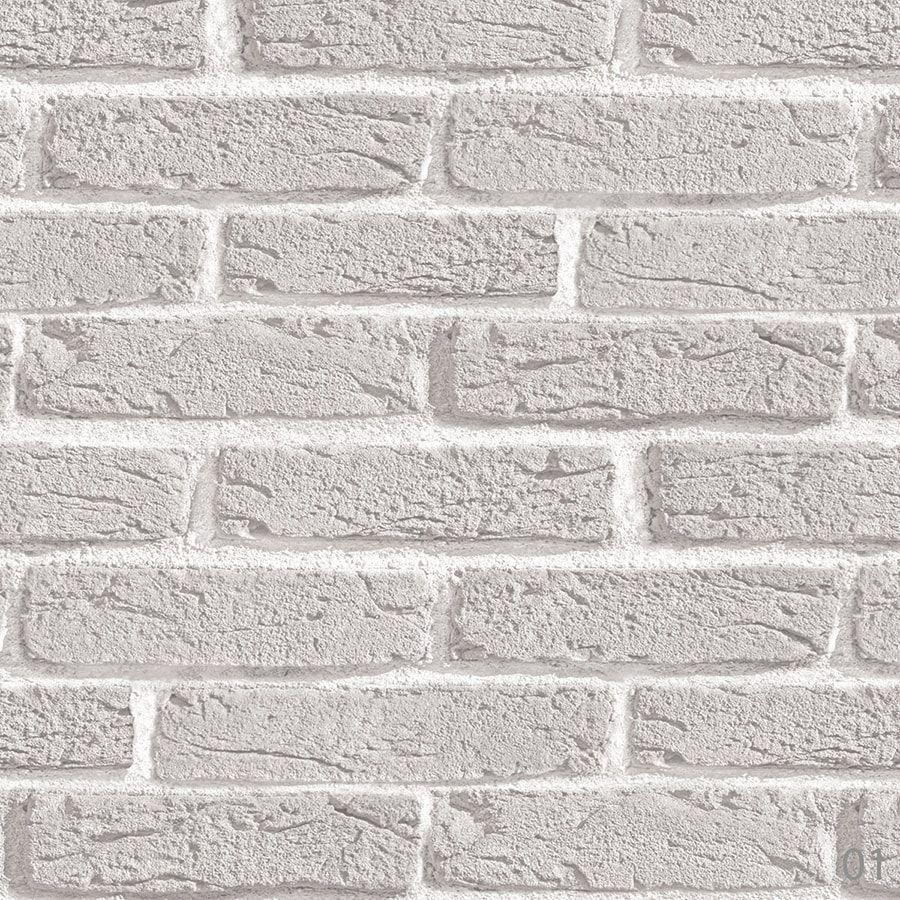 Papel de Parede Adesivo Tijolo Branco Rústico 90cm