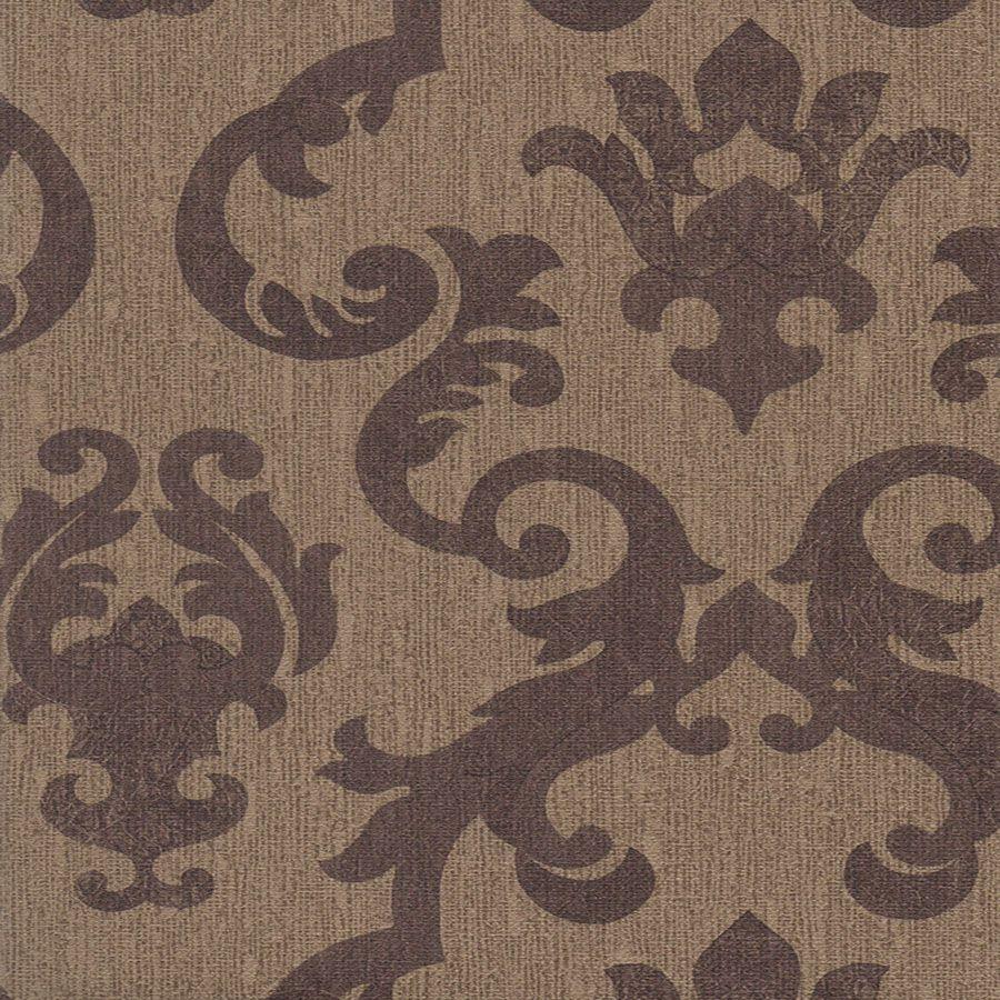 Papel de Parede Arabesco Marrom Escuro 52cm x 10m Harmonia
