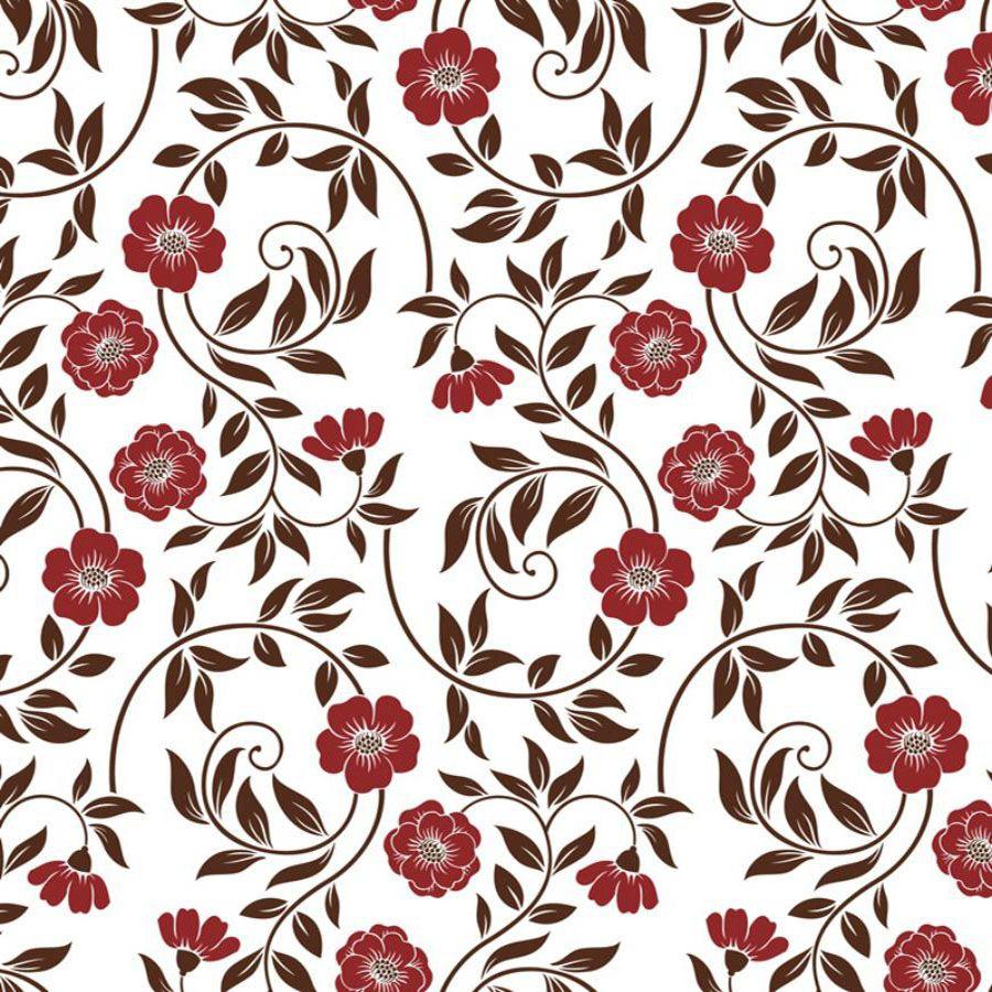 Papel de Parede Autoadesivo Floral Arabesco 45cm x 10m