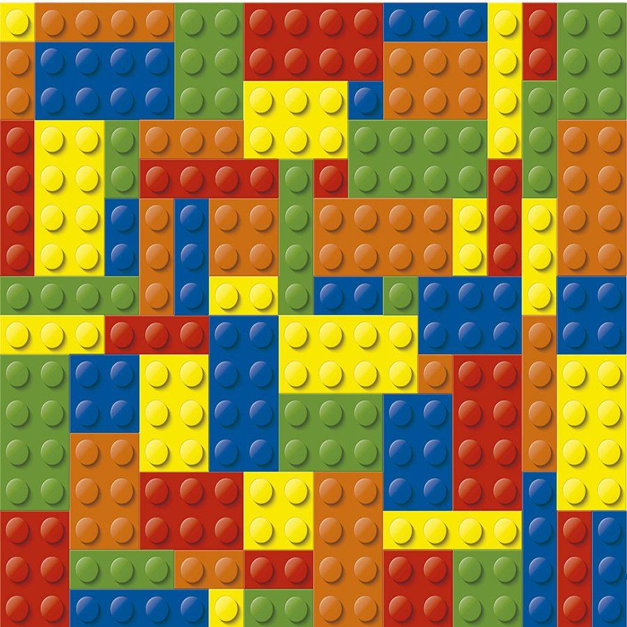 Papel de Parede Autoadesivo Lego 45cm x 10
