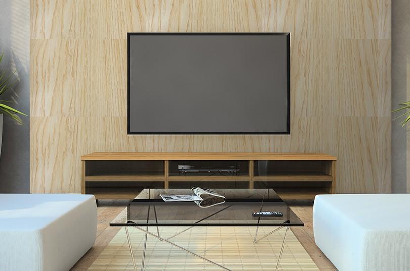 Papel de Parede Autoadesivo Madeira Vinhático com Textura45cm x 10m