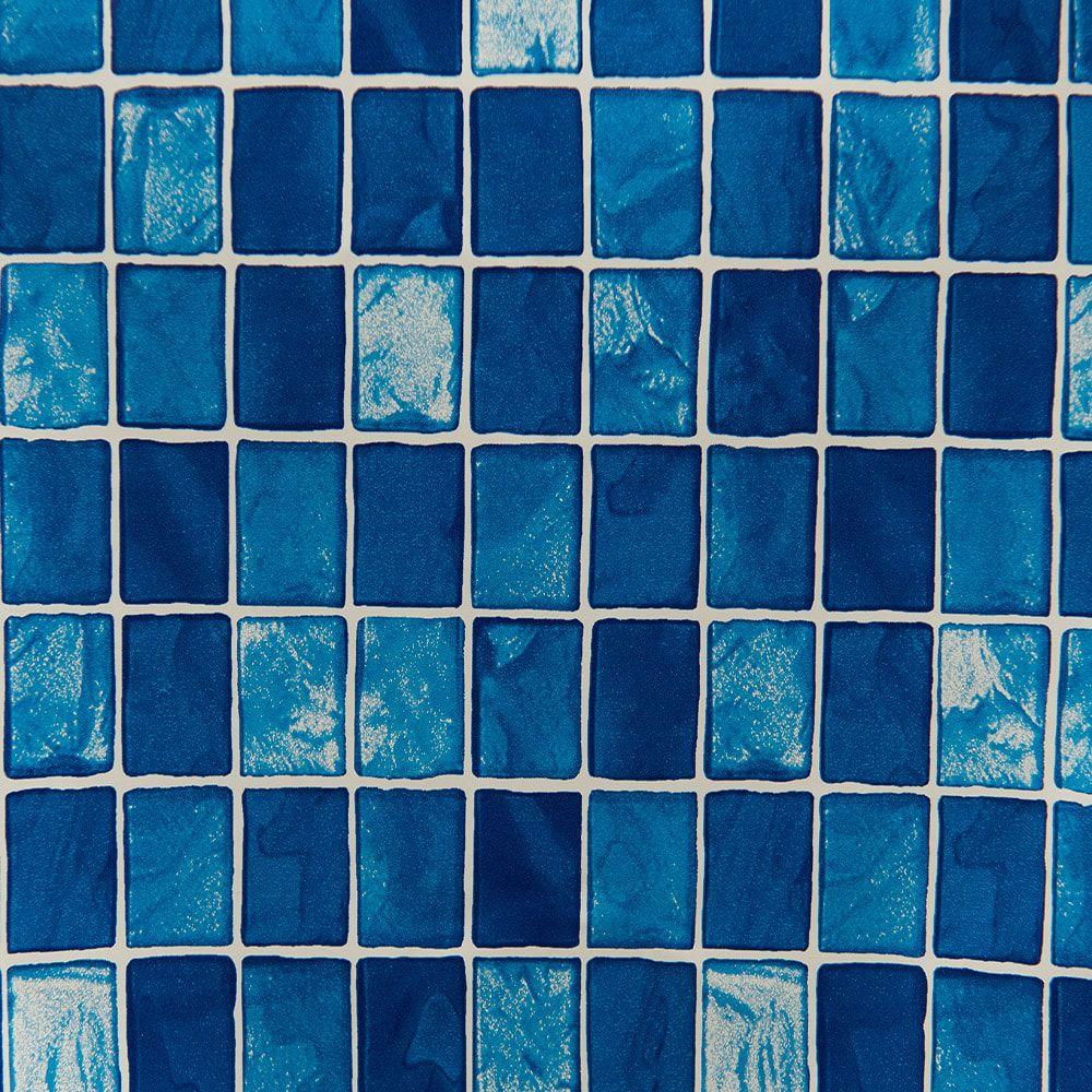 Papel de Parede Autoadesivo Pastilha Azul 45cm x 10m