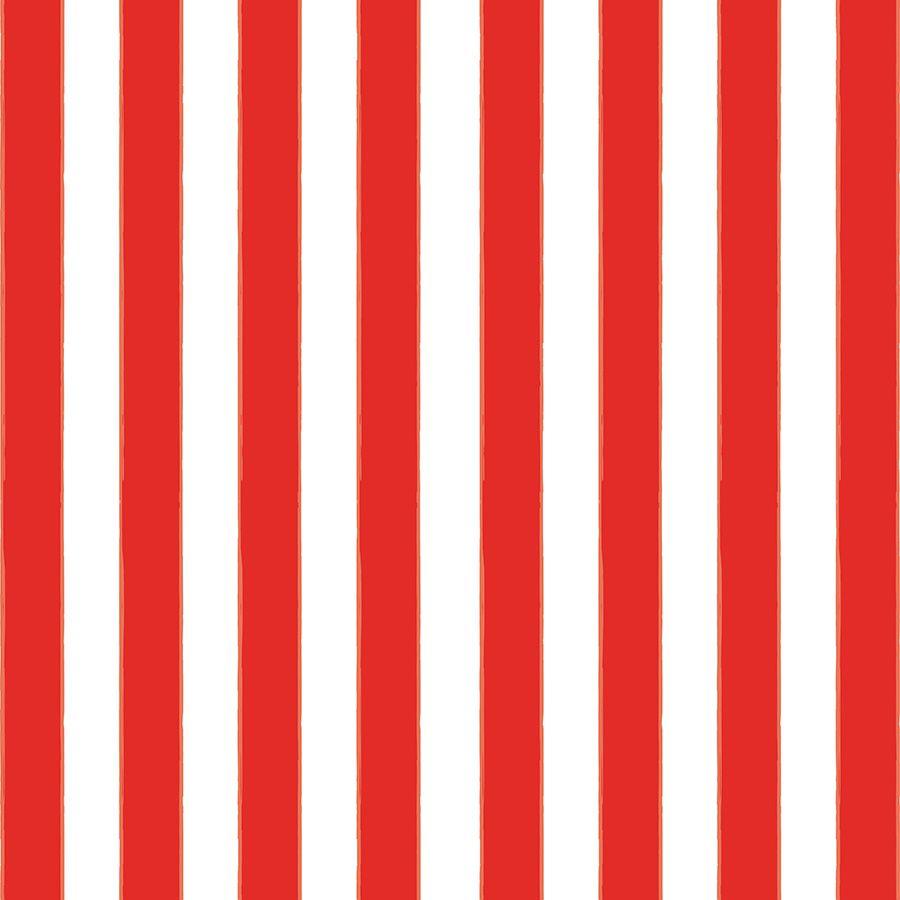 Papel de Parede Listra Vermelho e Branco 52cm x 10m Novo Encanto