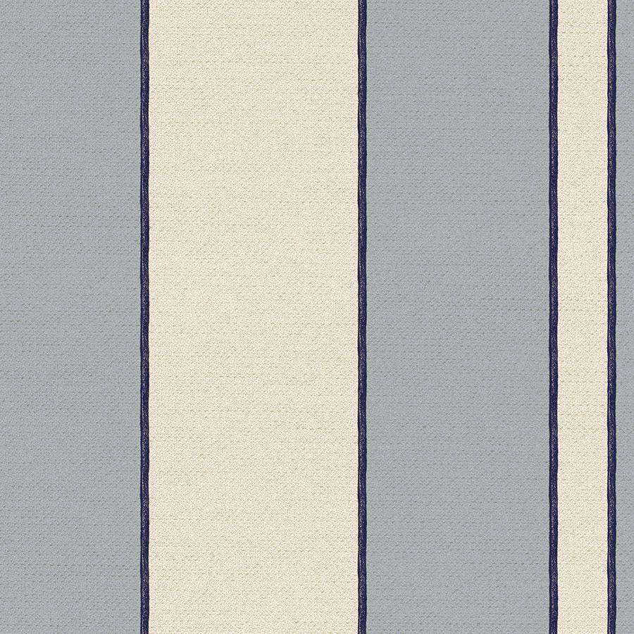 Papel de Parede Listrado Azul 52cm x 10m Rustic