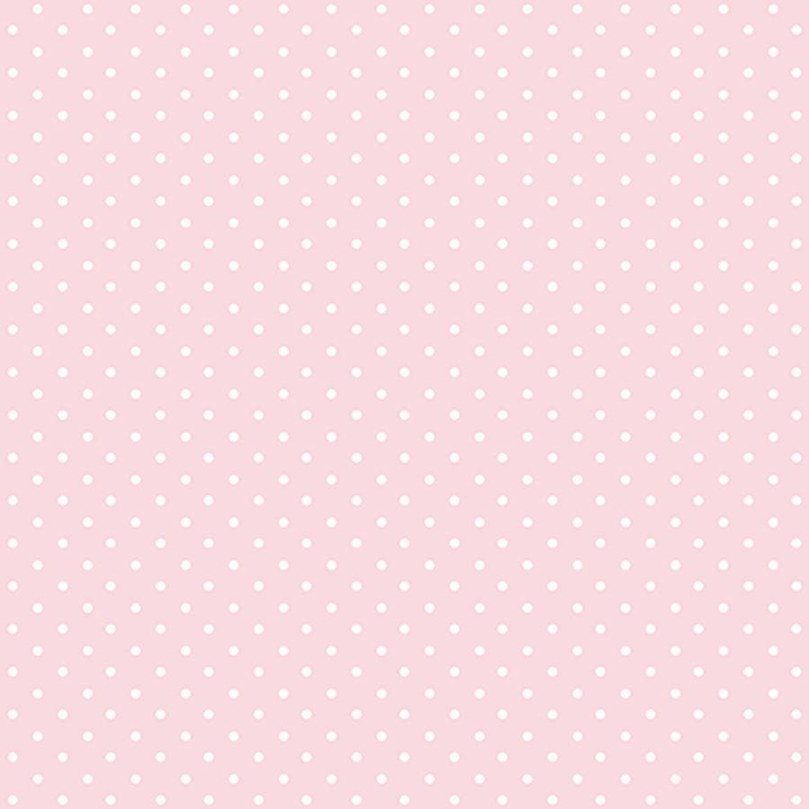 Papel de Parede Poá Rosa 52cm x 10m Figuras