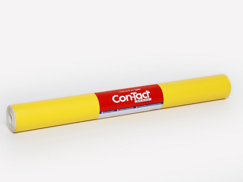 Papel Contact  Adesivo Amarelo 10m