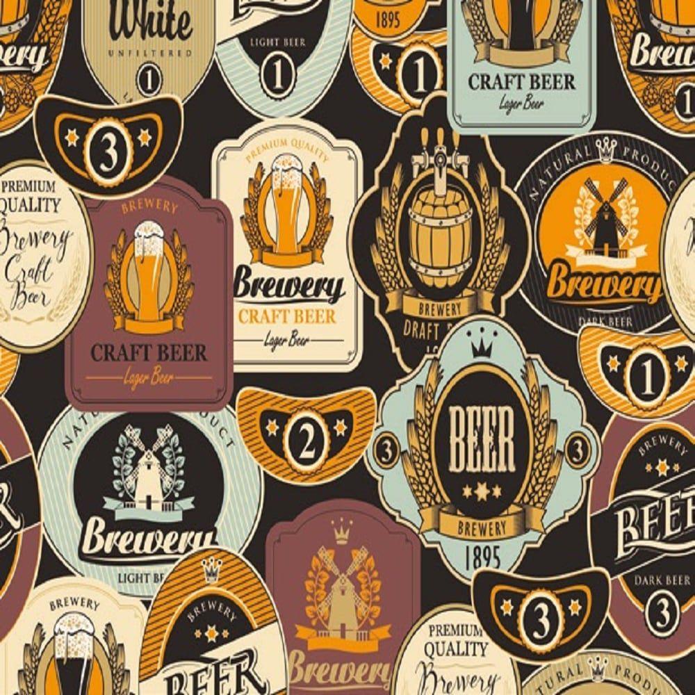 Revestimento Adesivo Cervejas 10m