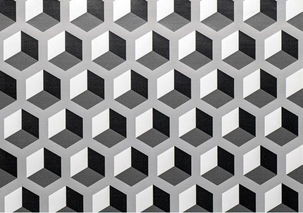 Revestimento Adesivo Geométrico 3D Cinza 10m