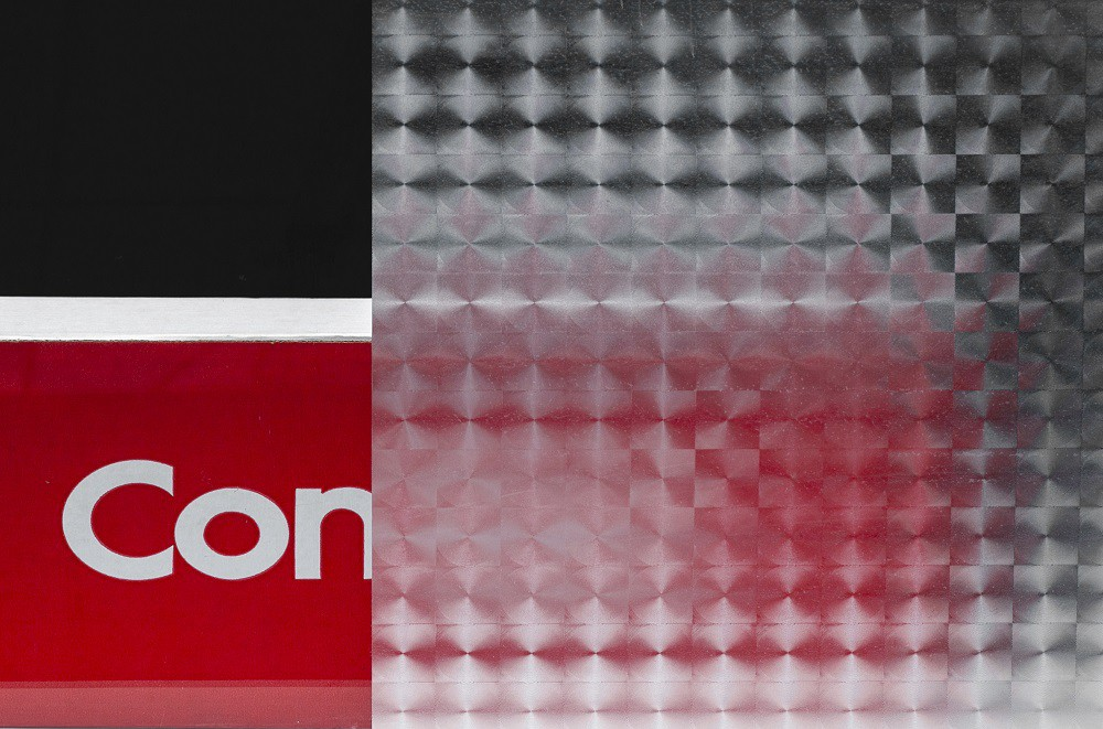 Revestimento Adesivo Jateado Decorado Dimension Para Vidro