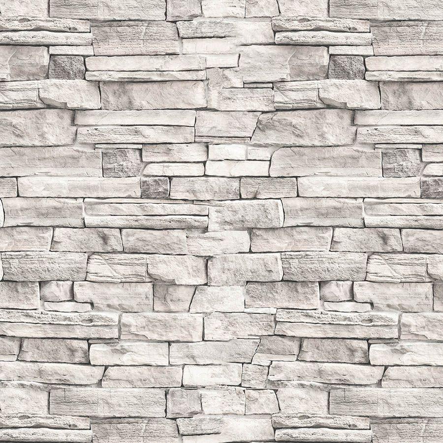 Revestimento Adesivo Contact Pedra Canjiquinha Branca 10m
