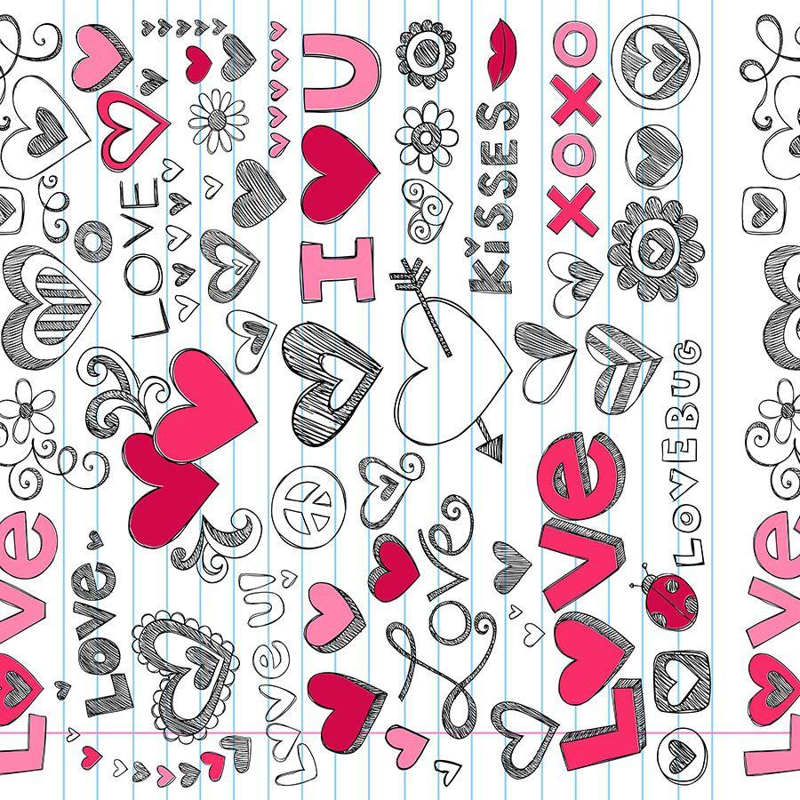 Tecido Adesivo Love