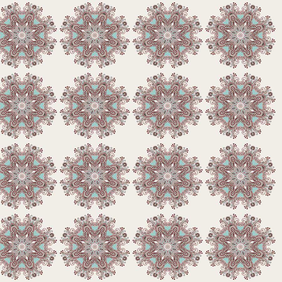 Tecido Adesivo Mandala Ornamental