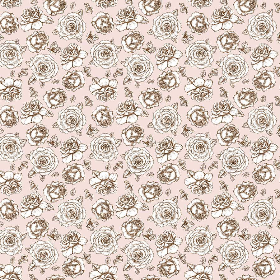 Tecido Adesivo Rosas