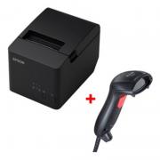 Impressora Térmica Epson Tm-t20x Usb + Leitor Elgin Flash