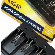 Porta Cédulas e Moedas Menno MG 40 Prendedores Metálicos