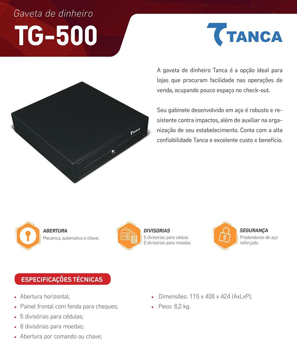 Gaveta de Dinheiro Tanca TG-500