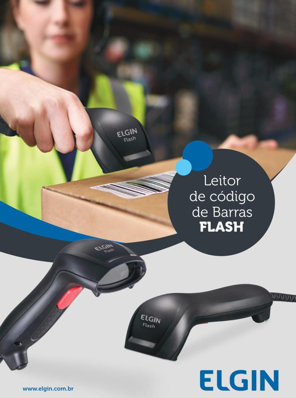 Leitor de Código de Barras Elgin Flash CCD Usb