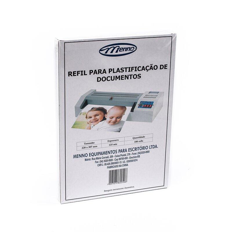 Refil Plastificadora Menno Tamanho A3 Cx c/ 100 unidades 310 x 430 mm