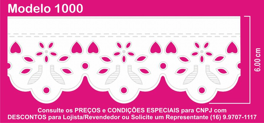 1000 Bordado Inglês Prensado 6,00cm X 10m  - Baby Sonic Aviamentos