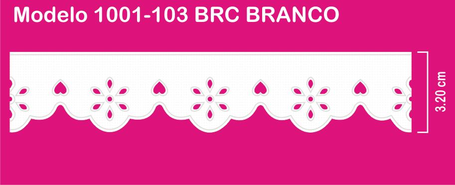 1001-103 PAM Bordado Sonic 3,20cm X 10m c/10un BRC BRANCO   - Baby Sonic Aviamentos
