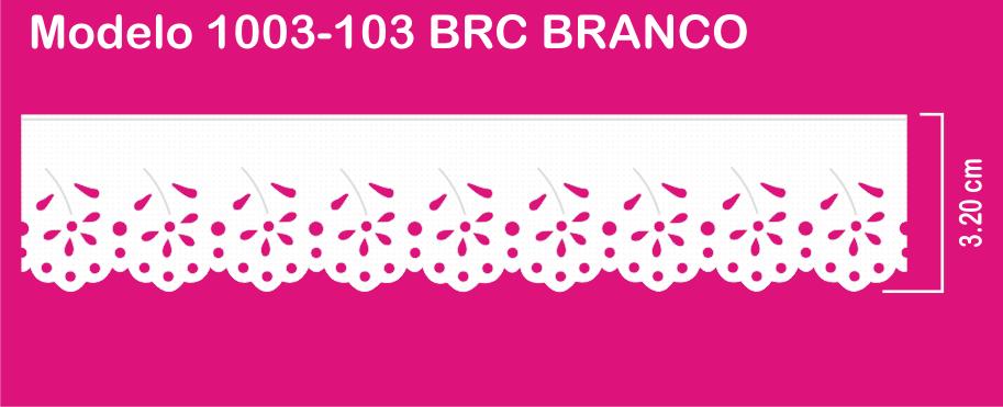 1003-103 PAM Bordado Sonic 3,20cm X 10m c/10un BRC BRANCO   - Baby Sonic Aviamentos