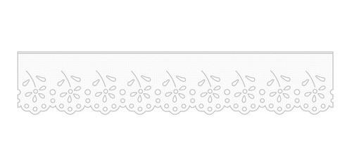 1003 Bordado Inglês 3,2cm X 10m  - Baby Sonic Aviamentos
