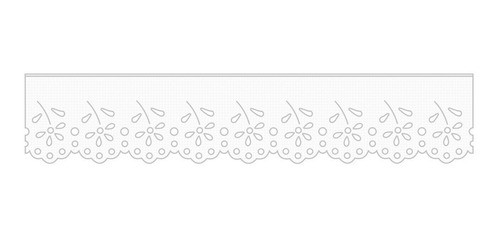 1003 Bordado Inglês 3,2cm X 10m KIT c/10un Branco PAM  - Baby Sonic Aviamentos
