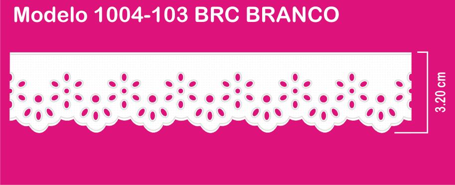 1004-103 PAM Bordado Sonic 3,20cm X 10m c/10un BRC BRANCO   - Baby Sonic Aviamentos