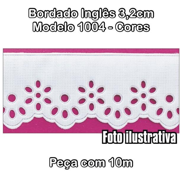 1004 Bordado Inglês 3,2cm X 10m - Cores  - Baby Sonic Aviamentos