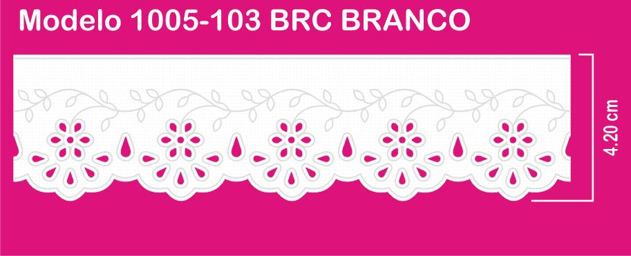 1005-103 PAM Bordado Sonic 4,20cm X 10m c/10un BRC BRANCO   - Baby Sonic Aviamentos