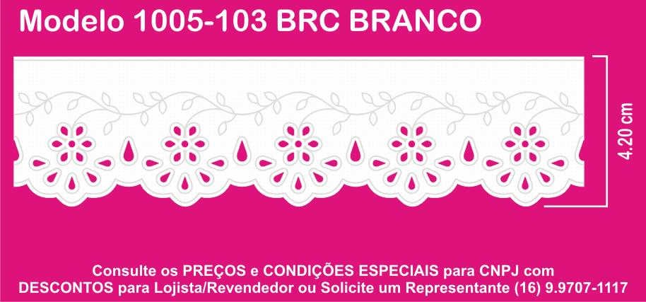 1005 Bordado Inglês 4,2cm X 10m KIT c/10un Branco PAM