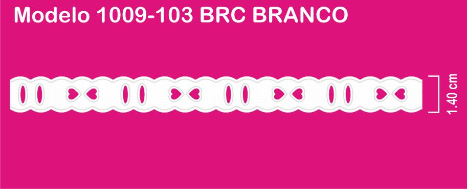 1009-103 PAM Passa Fita Sonic 1,40cm X 10m c/10un BRANCO  - Baby Sonic Aviamentos