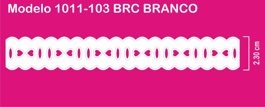 1011-103 PAM Passa Fita Sonic 2,30cm X 10m c/10un BRANCO  - Baby Sonic Aviamentos