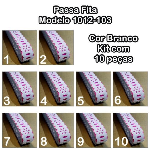 1012 Passa Fita 2cm X 10m KIT c/10un Branco PAM  - Baby Sonic Aviamentos