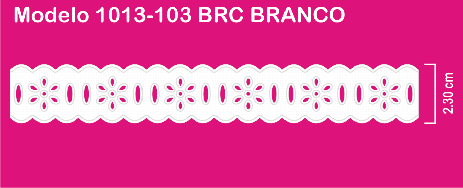 1013-103 PAM Passa Fita Sonic 2,30cm X 10m c/10un BRANCO  - Baby Sonic Aviamentos