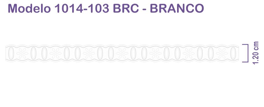 1014 Passa Fita 1,2cm X 1m - Branco Pam
