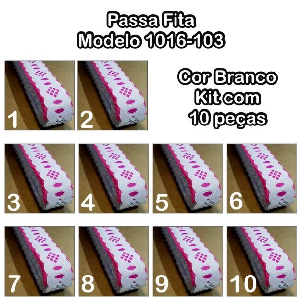 1016 Passa Fita 2,3cm X 10m KIT c/10un Branco PAM  - Baby Sonic Aviamentos