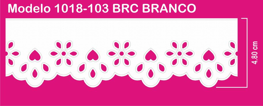 1018-103 PAM Bordado Sonic 4,80cm X 10m c/10un BRC BRANCO  - Baby Sonic Aviamentos